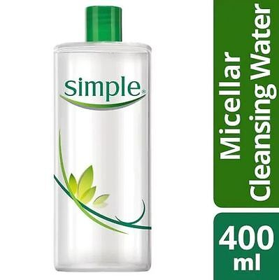 Simple Kind To Skin Micellar Cleansing Water 400ml New