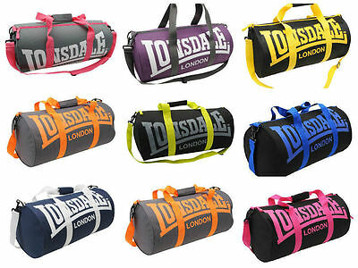 Mens Womens Kids Lonsdale Barrel Gym Sport Travel Holdall Shoulder Bag New.
