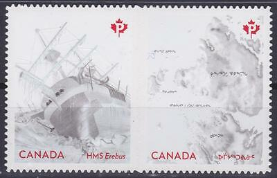 Canada 2015 #2854-55 The Franklin Expedition - die cut Unused