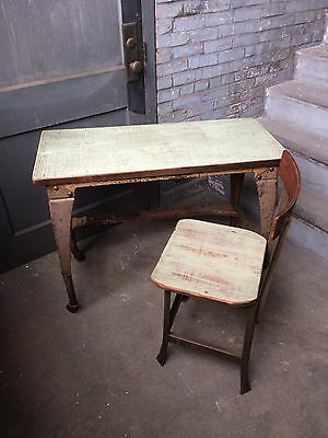 Vintage Industrial Legs -Desk /table & Chair Rustic Shabby Chic Steampunk