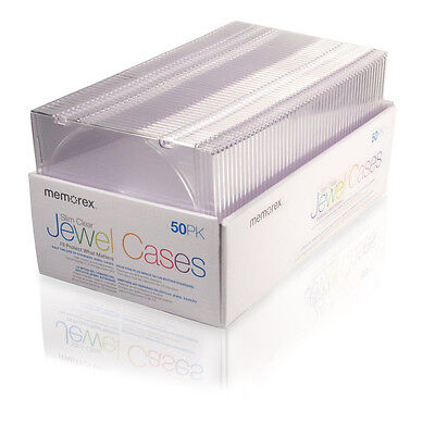 Memorex Clear Slim CD Jewel Cases - 50 Pack + FREE SHIPPING