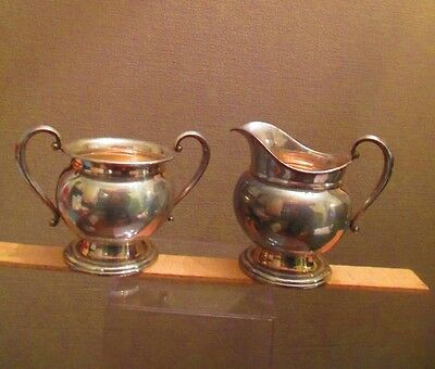 International Sterling Company Courtship Silver Creamer and Sugar / GOOD - DEAL
