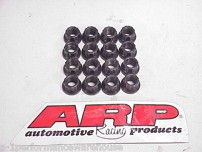 """16  ARP 12-Point Head Black Oxide Nuts 7/16-20"""" (1/2"""" wrench)"""