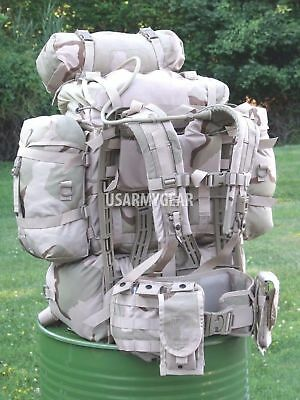 US Army Military Molle Desert Ruck Sack Rifleman Set Assault Hydration Back Pack