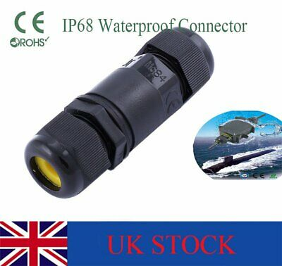 2 3 4 Pin IP68 Waterproof Electrical Cable Wire Connector 4M Depth Water New