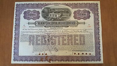 Standard Oil Issued New York Central Railroad Company Bond Stock Certificate