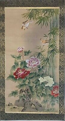 Antique Hand Painted Paper Cloth Chinese Picture Ceramic scroll