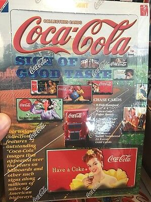 COCA COLA SIGN OF GOOD TASTE COLLECTOR CARDS 36 packs SEALED BOX from CASE