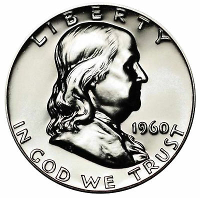 1960 Franklin half dollar Gem 90% Silver Proof