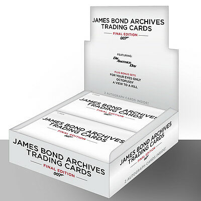 2 x James Bond Archives 2017 Final Edition Trading Card Box + Promo