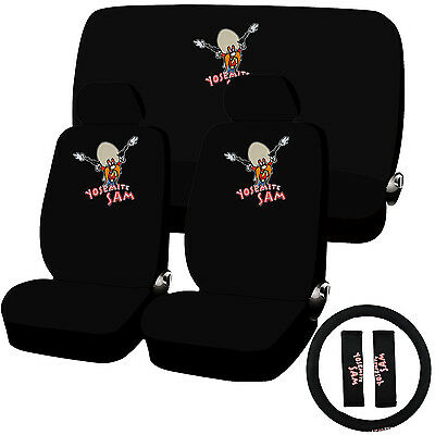 11 Piece Looney Tunes Yosemite Sam Seat Cover Combo Set Universal Fit