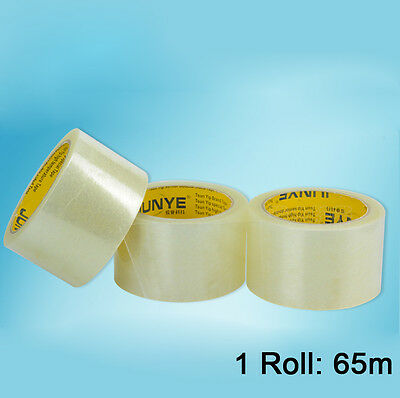1cm-10cm x 65m Transparent Box Carton Sealing Packing Shipping Package Tape New
