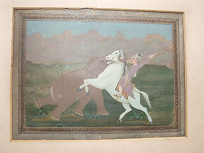 Original Antique 19th Century watercolor painting S E Asian Mughal India