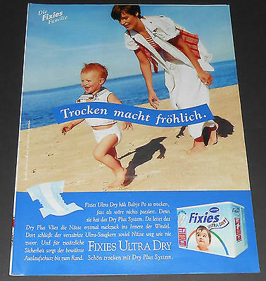 1996 vintage ad - FIXIES BABY DIAPERS - LITTLE BOY GERMANY 1-PAGE PRINT ADVERT