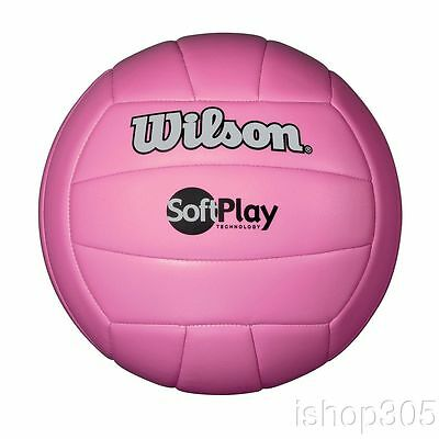 Wilson Soft Play Outdoor/Indoor Volleyball Official Size Synthetic Leather Pink