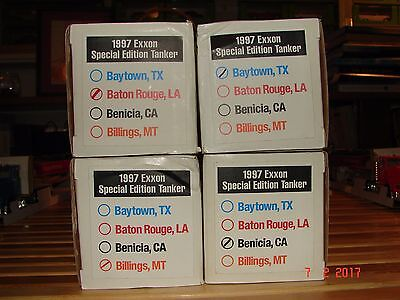 4-Exxon Refineries 1997 Toy Tankers -RARE-HESS