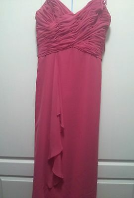 Beautiful Evening Formal Bridesmaid Mother Of Bride/groom Gown Size 12 Euc