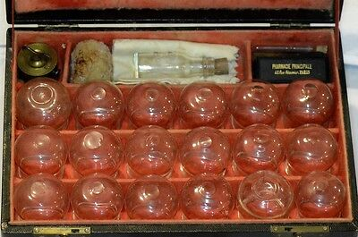 LARGE Late 19th Century French Cupping and Bleeding Set With Accessories - Exc.