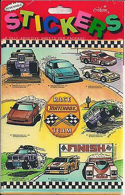 Vtg Rare 1988 Gibson Matchbox Car Auto Racing Stickers - 4 Sheets NIP Sealed