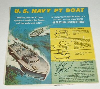 1950's Kelloggs Cereal Box Back with Baking Soda PT Boat cereal premium offer