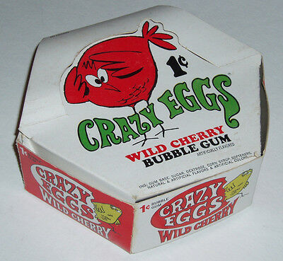 1970's Topps Crazy Eggs Bubble Gum Store Display Box