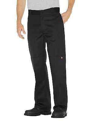 DICKIES MEN'S BLACK DOUBLE KNEE CELL PHONE LOOSE FIT Work Uniform PANTS 85283