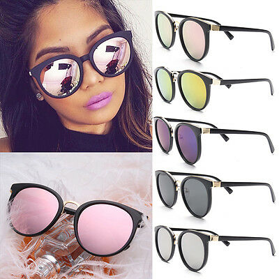 Fashion Womens Retro Mirrored Designer Sunglasses Vintage Eyewear Eye Glasses
