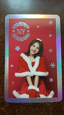 TWICE NAYEON Official PHOTOCARD Holo Christmas Ed TWICEcoaster LANE1 w/o CASE