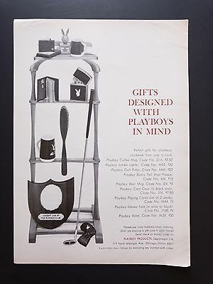 Playboy Products   1966 Vintage Print Ad   1960s Men's Gift