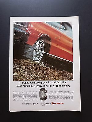Firestone Tires | 1966 Vintage Ad | 1960s Car Tire