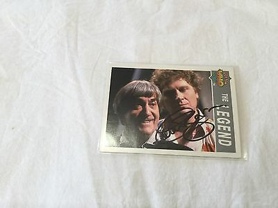 Colin Baker Dr. Who hand signed trading card Doctor Who