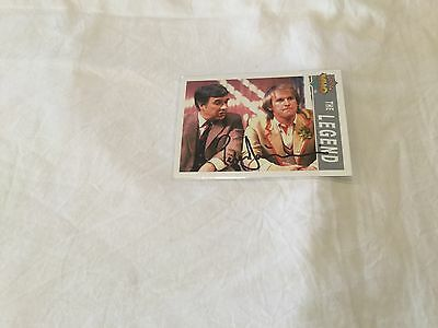 Peter Davison Dr. Who hand signed trading card Doctor Who