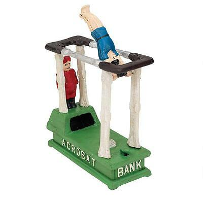 The Acrobat Collectors' Die-Cast Iron Mechanical Coin Bank