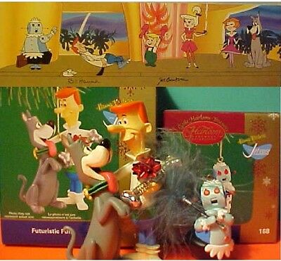 2 Carlton Cards Heirloom Ornament Jetsons, Dog & Rosie the Robot + postcard