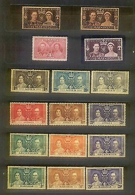 1937 Omnibus Coronation Queen Elizabeth & King George VI MLH complete 202 stamp