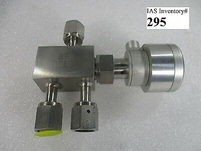 Nupro SS-4BY-V35 Stainless Steel Valve (used working, 90 day warranty)