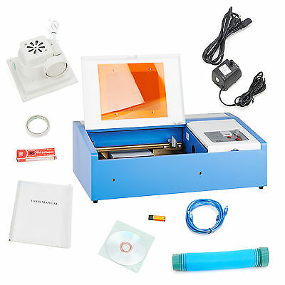 40W High Precision CO2 Laser Cutting Engraving Engraver Machine  USB NEW