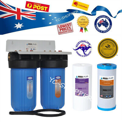 "Whole House Jumbo Big Blue Water Filter System 10""x 4.5"" INCLUDING FILTERS"