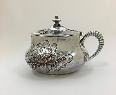Dominick & Haff Mustard Pot American Aesthetic Sterling Silver Mixed Metal 1880