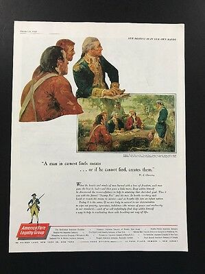 America Forge Loyalty Group   1961 Vintage Print Ad   Large Color Illistration