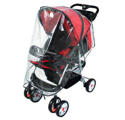 Universal Clear Raincover Fit Hauck Shopper 6 Buggy Pushchair Pram Rain Covers