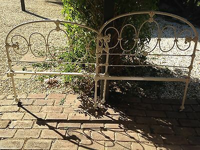 Antique King single cast iron bed