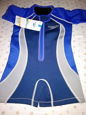 Speedo size 3T Begin to Swim Thermal Suit Blue NWT Block the Burn SPF