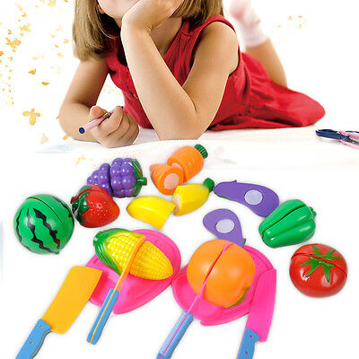 Kitchen Cutting Fruit Vegetable Food Toy Pretend Role for Child Kid Baby Gift