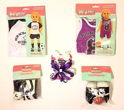 DOLL CLOTHES 18 Inch DOLLS SOCCER & BASKETBALL OUTFIT AMERICAN GIRL ~ NEW