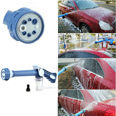 8 Nozzle Jet Water Soap Cannon Dispenser Pump Spray Gun Car Washer Cleaner New