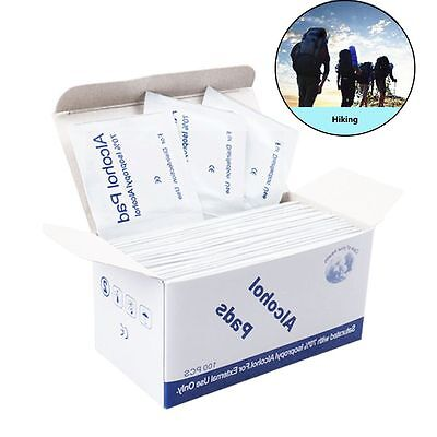 100pcs Aid Alcohol Wipe Pad Disinfection Tablet Antibacterial Tool Cleanser