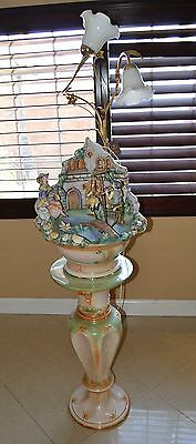 Large Capodimonte Beautiful Water Fountain, Made in Italy