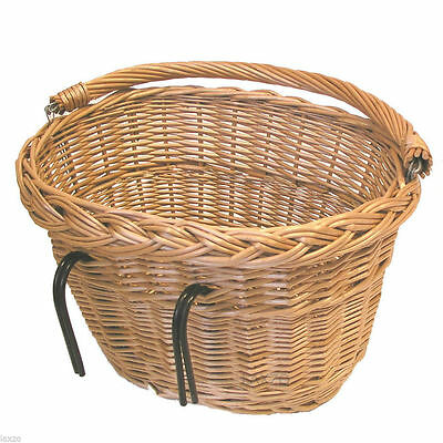 Basil Large Wicker Oval Hook - On Front Bicycle Basket