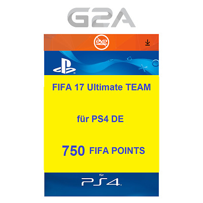 FIFA 17 Ultimate Team - 750 FUT Points [PS4] Playstation Network PSN Code DE